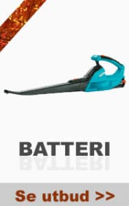 Batteridriven lövblåsare