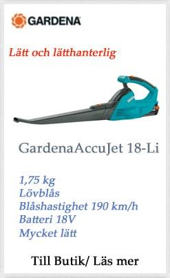 gardena accujet lövblås